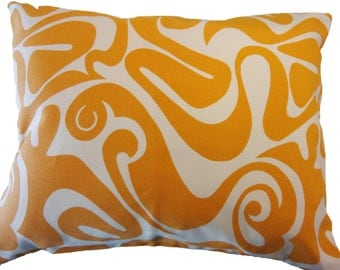 Modern Mustard Yellow Designer Lumbar Decorative Pillow Cover 20x16 with Hidden Zipper