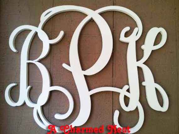 monogram wooden letters 20 inch wooden monogram letters great for weddings 23687 | il 570xN.481701762 4n42