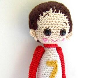 Crochet Doll Pattern - Dani, Cute Crochet Amigurumi Boy, Crochet Pattern, Doll Pattern