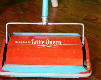 Vintage Bissell's Little Queen Toy Carpet Sweeper