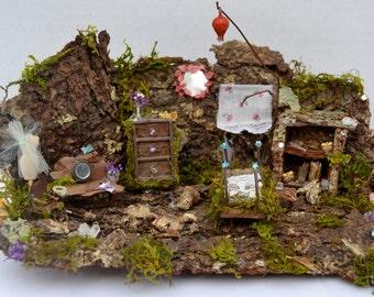 OOAK Miniature Fairy Bedroom