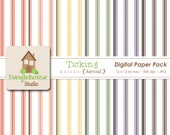 Ticking Digital Paper Pack | Fall Colors | Autumn Thanksgiving Harvest Paper Pack | Digital Scrapbooking