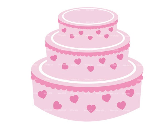 Items similar to Wedding cake clipart digital clip art ...