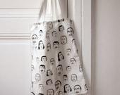 Nicolas Cage print tote bag