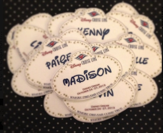 Disney Cruise Personalized Name Tag Magnets Fish Extender