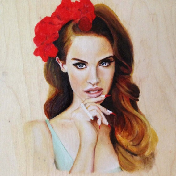 Items similar to Lana Del Rey - Original Oil Painting on Etsy