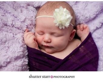 Ivory Headband, Flower Headband, Baby Headband, Petite Headband, Baby Girl Headband, Newborn Headband, Christening Headband, Baptism
