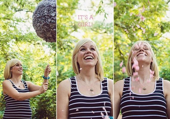 Custom for Jeannie- Chevron Gender Reveal Party Piñata