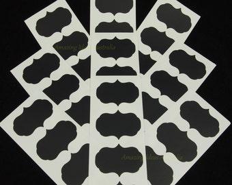 100 x Chalkboard Label (Fancy Decal - 5cm x 3.5cm) : Blackboard Wedding Gift Tag Stickers Australia