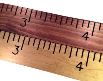 hand routed wooden ruler growth chart, great for measuring kids height, oversized, measuring stick, giant ruler, unique gift