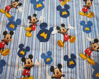 """1/2 yard of 100% cotton """"Mickey Mouse"""" Fabric"""