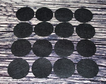 """1.5"""" Black Felt Circles 50 count - One and a Half Inch Wholesale Black Felt Circles 50 count"""