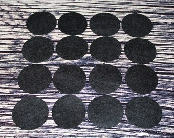 """1.5"""" Black Felt Circles 100 count - One and a Half Inch Wholesale Black Felt Circles 100 count"""