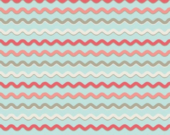 Wholesale KENSINGTON 1 Yard Fabric by EMILY TAYLOR for Riley Blake in Blue Ric Rac