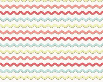 Wholesale KENSINGTON 1 Yard Fabric by EMILY TAYLOR for Riley Blake Multi Colors Ric Rac