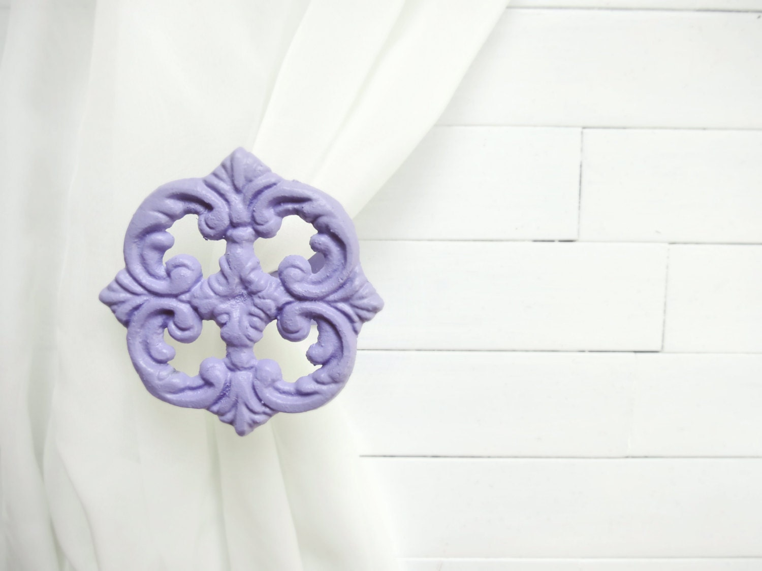 Two Metal Curtain Tie Backs / Curtain Tiebacks / by WillowsGrace