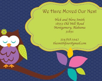 We Have Moved Our Nest Owl Moving Announcements