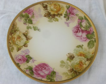 Plate - Silesia - Hand Painted - Vintage