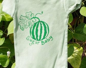 Organic Green Sugar Baby Onesie