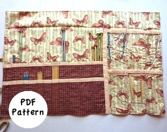 Knitting Needle Case Pattern: Size Medium (PDF Download)