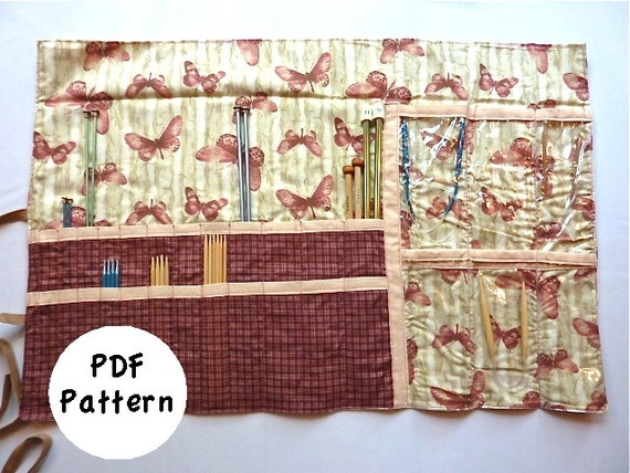 Knitting Needle Case Sewing Pattern : Knitting Needle Case Pattern: Size Medium PDF Download