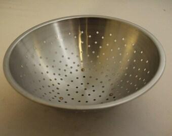 Vintage Vollrath Stainless Steel Colander 10 inch diameter