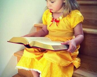 Belle Inspired Play Dress sizes 2T-10
