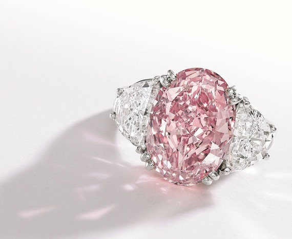 Pink Diamond Engagement Ring 1.78ct Pink Oval Half by blueriver47