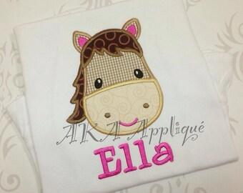 Sophia Horse Head Applique Embroidery Design