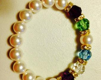 Swarovski Pearl Mother's Bracelet