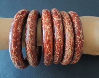 1 piece red-brown  Wood Bracelet Natural Wood Bangle large wood ring  67mm( W378)