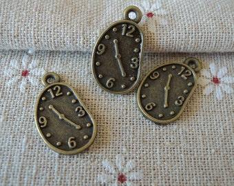15pcs 22x13mm  Antique Bronze clock charm( A166)