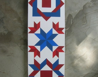 3'x1' Barn Quilts with three patterns to choose