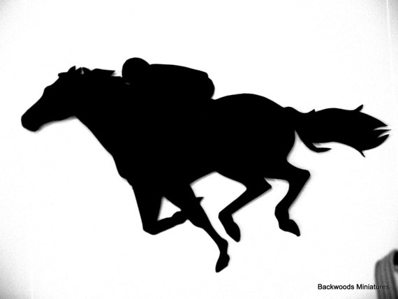 Horse racing silhouette pictures