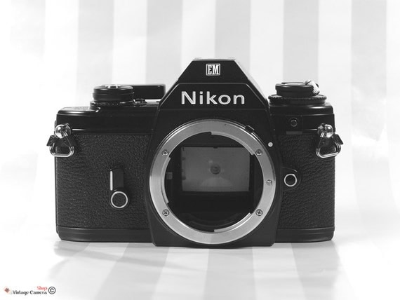 Nikon EM 35mm SLR Camera Body- vintage camera - Nikon 35mm vintage Camera
