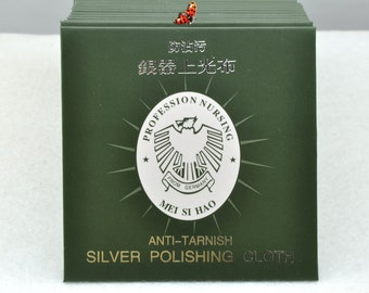 Silver 925 Anti-Tarnish Cloth Cleans Sterling Silver Cleaning Cloth Polishing Silver Cloth in 8.2x8.2cm,20 pcs