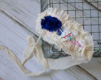 Newborn / Baby Girl / Toddler Girl Tieback - OOAK - Made from VINTAGE Materials - Great Newborn Photography Prop - READY to Ship