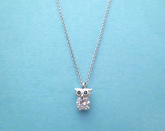 Cute, Cubic, Owl, Gold, Silver, Necklace, Bird, Animal, Jewelry, Birthday, Graduation, Friends, Sister, Christmas, Gift