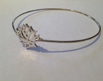 Safe Alliance Silver Lotus Flower Bracelet