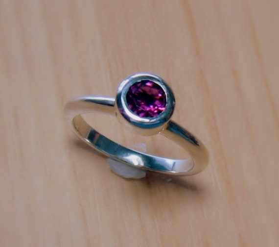 tourmaline stackable gemstone ring sterling by michellejesmain