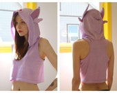ESPEON- hooded crop top