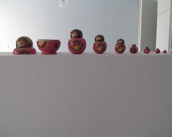 Handmade Pink Russian Matroyshka