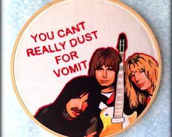 Spinal Tap - Handmade Illustrated Embroidered Quote Hoop Fabric Wall Art