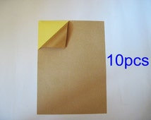 10 sheets - A4 Size Kraft Papers Sticker (Self-Adhesive) *SR001*