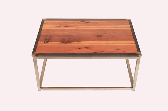 Items Similar To Reclaimed Redwood Fence Coffee Table On Etsy