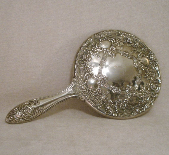 Vintage Silver Hand Mirror By 1925farmhousegoods On Etsy
