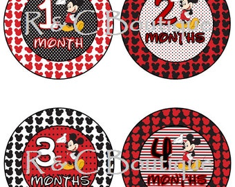 Mickey Mouse Monthly Baby Stickers