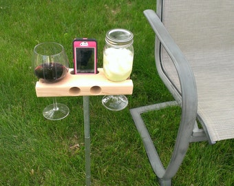 Wine Glass Holder, Smartphone Dock/Speaker. Works w/ most smartphones including iPhone 6s 6s+, galaxy s7.  The Wine Dock - Gift!