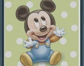 Baby Mickey Mouse inspired Cross Stitch Pattern