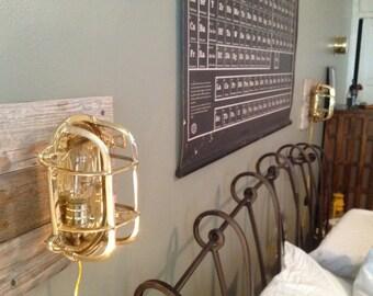 Repurposed Brass Wall Sconce Ship Lantern Sconce